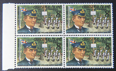 1978 Christmas Island Stamps - Famous Visitors Definitives - Block 4x8c-Tab MNH