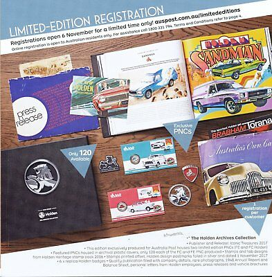 2017 HOLDEN ARCHIVE COLLECTION WITH VERY RARE PNC's & BADGES
