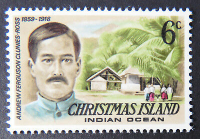 1977 Christmas Island Stamps - Famous Visitors Definitives - Single 6c MNH
