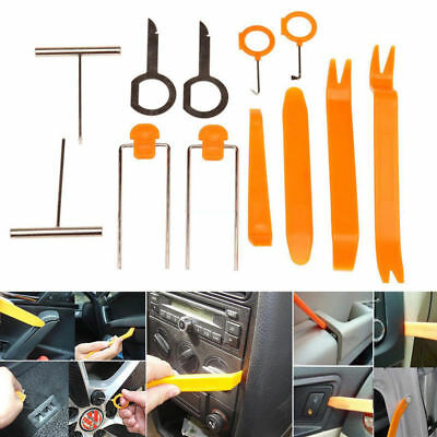 1/5 Sets Removal Pry Open Tools Kit For Car Door Trim Panel Clip Light/Radio NEW