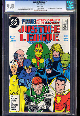Justice League #1 (1987) Cgc 9.8 Wp 1St App Maxwell Lord!