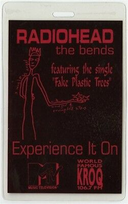 Radiohead authentic 1995 concert Laminated Backstage Pass The Bends Tour KROQ