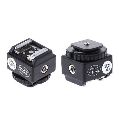 Hot C-N2 Shoe Converter Adapter PC Sync Port Kit For Nikon Flash To Canon Camera