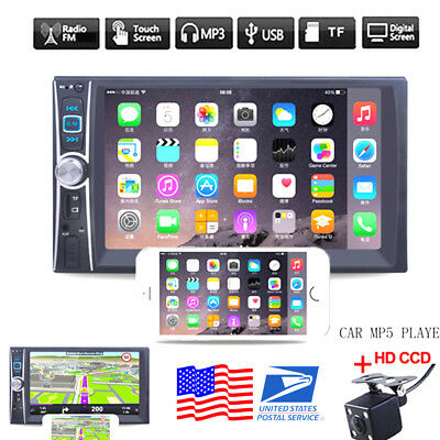 "7"" 2DIN Car MP5 Player Bluetooth MP3/MP4/Audio/Video/USB Rearview+Camera"