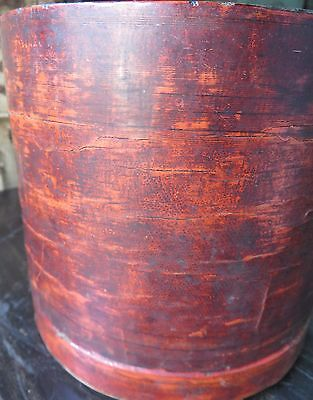 Period Antique Burmese Cinnabar Lacquer Betel Nut Box  (Kun-It) Refurbished