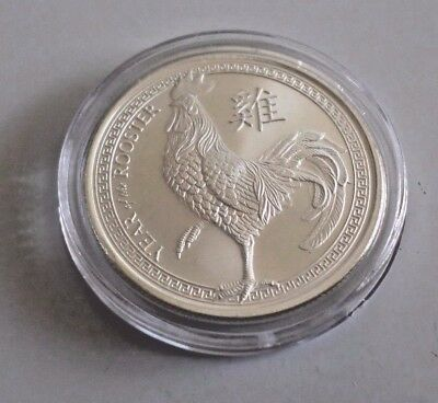 1 oz silver coin - Provident Lunar Rooster 99.9% pure round
