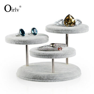 Oirlv Round Table Ring Bracelet Necklace Jewelry Display Stand Holder Creative