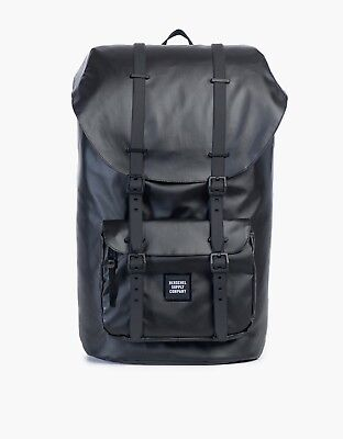 New Herschel Little America Studio Backpack In Black Synthetic Leather