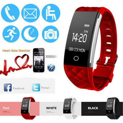 S2 Waterproof Heart Rate Tracker GPS Smart Wristband Watch Bracelet Fitness UK