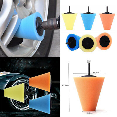 Burnishing Foam Sponge Polishing Cone Shaped Buffing Pads For Car Wheel Hub Tool
