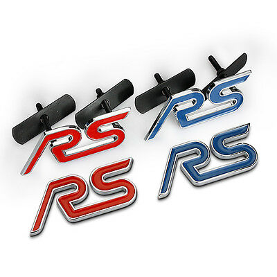 Car Grille Emblem For Ford Mondeo Focus RS Metal 2 Colors Sticker Decal Badge