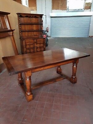 Antique/reproduction Solid Oak Farmhouse Country Table By Brights Of Nettlebed