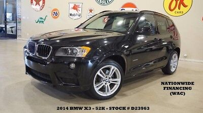 2014 Bmw X3 14 X3 Xdrive 28I,pano Roof,nav,htd Lth,park Sensor 14 X3 Xdrive 28I,pano Roof,nav,htd Lth,park Sensors,19In M Whls,52K,we Finance!!