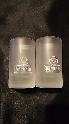 Set of Jagermeister Frosted Shot Glasses - Good Condition!