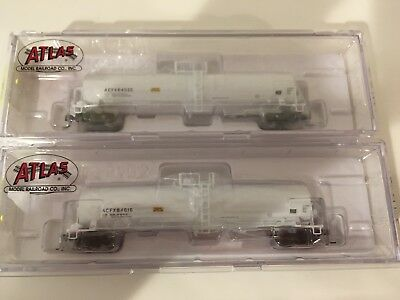 2 X Atlas N Scale Tanker Cars *NEW*