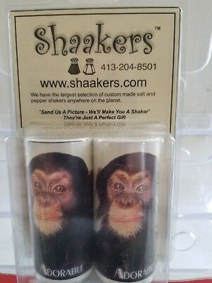 Animals - Adorable Chimp - Salt & Pepper Shakers