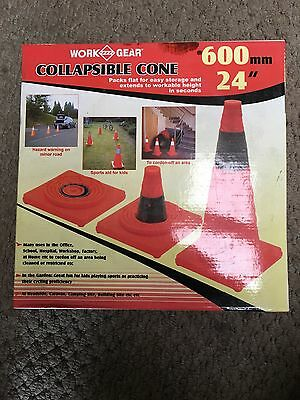 Collapsible Traffic Cone 600mm/24""