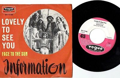 """7"""" Information - Lovely To See You - Vogue Dv 11105 -"""