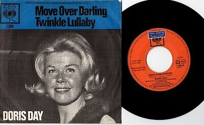 """7"""" Doris Day Move Over Darling / Twinkle Lullaby - Cbs 1384"""