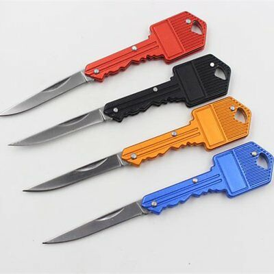 Portable Camping Outdoor Fishing Survival Pocket Folding Blade Key Shape Knife
