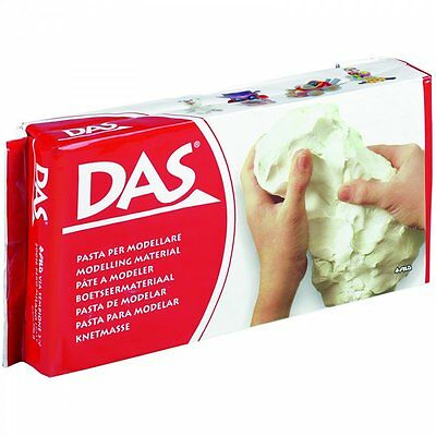 White Air Drying Clay Das Modelling Material Self Hardening Large 1kg Pack