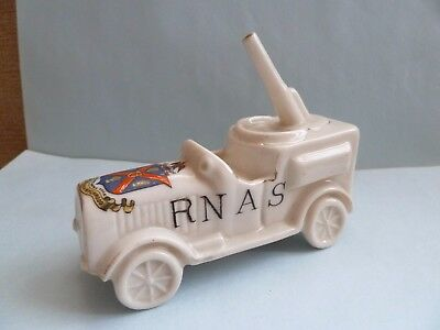 "Carlton WW 1 crested china ""British Anti Aircraft Motor"". SHIPTON UNDER WYCHWOOD"