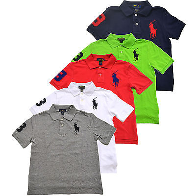 Polo Ralph Lauren Boys Big Pony Polo Shirt Classic Fit Kids Mesh School New Nwt