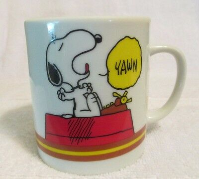 """I'm Not Worth A Thing Before Coffee Break"" SNOOPY and WOODSTOCK Coffee Cup"