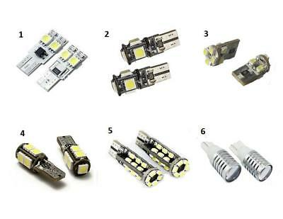1 x Pair LED 501 W5W T10 Sidelight Bulbs 6000K White Sidelights 6 Types in Stock