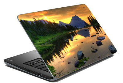 "Mountain With Sun ShadeLaptop Skin Sticker And Skin Protector Fit 14.1""x15.6"""