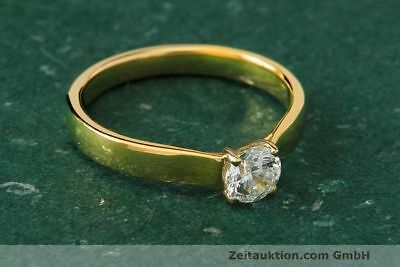 Ring Milano 18k Gold Solitär Diamant Brillant 0,44 CT WERT ca. 3.904,- EUR