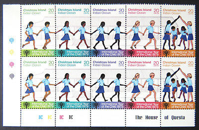 1979 Christmas Island Stamps - International Year of the Child - Cnr Set 5x2 MNH