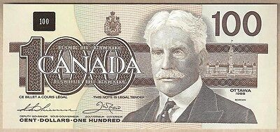 1988 $100 Birds of Canada BC-60a Hidden BPN; Thiessen & Crow. GEM UNC+