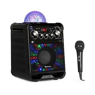 Machine karaoké Chaine lecteur CD Bluetooth LED multicolore Boule disco + micro