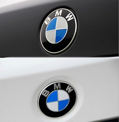 NEW Car Emblem Chrome Hood Badge Logo 74mm 2 Pins For BMW Rear Trunk