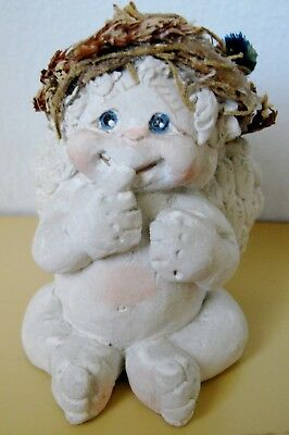 Dreamsicles Angel Baby Figurine, Finger in Mouth, 1994