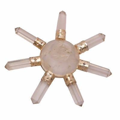 Clear Quartz Stone 7 Point Energy Generator Pyramid 7 Chakra Crystal Healing Gem