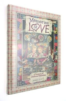 Memories of Love Illustrated Birthday Baby Shower Child Keepsake Album Book New