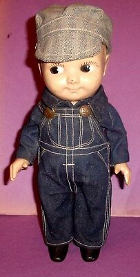 """1950's 13"""" Buddy  Hard Plastic Lee Doll in Original Lee Jeans Outfit & Buttons"""