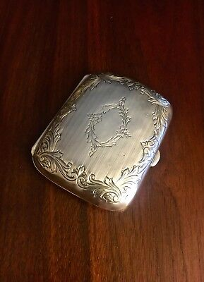 Beautiful Webster Co. Sterling Silver Card / Cigarette Case No Monograms!