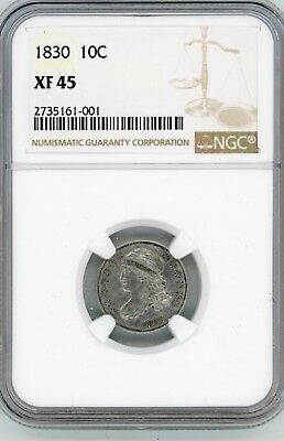 1830 10C Capped Bust Dime NGC XF45