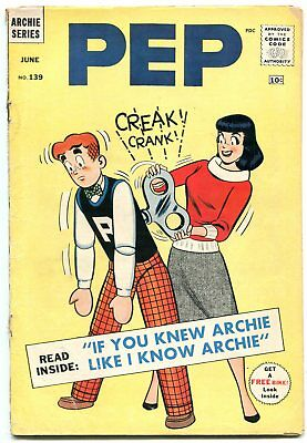 Pep #139 1960--Archie gets wound up-Betty and Veronica--G/VG