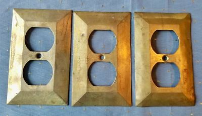 Three Heavy Brass Outlet Plates