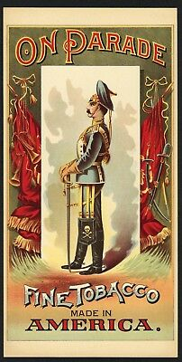 ON PARADE Brand, Vintage 1880's Tobacco Caddy Label, 309