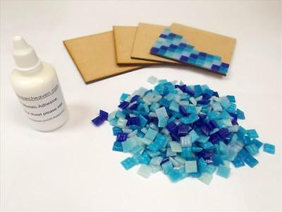 Easy to make Mosaic Coaster Kit. Great Project. The Blues. Everything Inc X 4