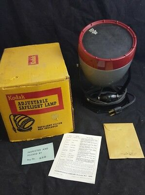 Kodak Adjustable Safelight Lamp Model A with Wall Mount Plate original Box works