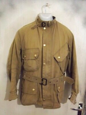 Scarce Barbour M12 International Suit Waxed Motorcycle Jacket Size C44 112Cm
