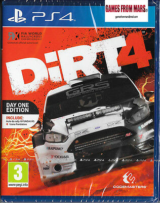 DIRT 4 + DLC Day One Edition / PS4 / NUOVO ITALIANO