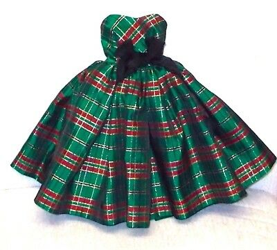 "20""   CISSY   MISS REVLON  FASHION  Clothes   FABULOUS   PLAID  TAFFETA   DRESS"