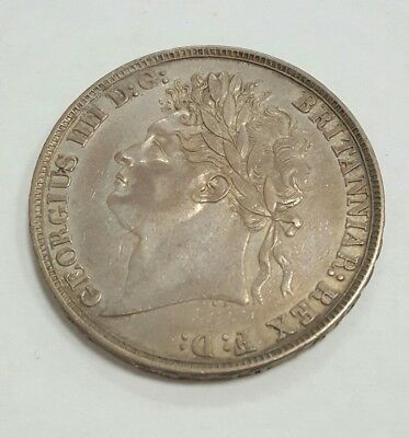 Great Britain Scarce 1822 Silver One Pound Coin-Nice Grade